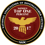 National Association of Distinguished Counsel, Nation's Top One Percent 2017